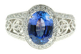 Mesmerizing Tanzanite Genuine Gemstone Ring at BitCoin Gems