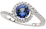 Beautiful Tanzanite Genuine Gemstone Ring at BitCoin Gems