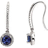 Unique Genuine Gemstone Tanzanite Earrings at BitCoin Gems