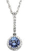 Astonishing Genuine Gemstone Tanzanite Pendant for SALE at BitCoin Gems