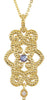 On Trend Genuine Gemstone Tanzanite Pendant for SALE at BitCoin Gems