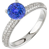 Gorgeous Tanzanite Genuine Gemstone Ring at BitCoin Gems