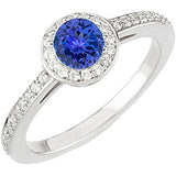 Elegant Tanzanite Genuine Gemstone Ring at BitCoin Gems