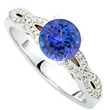Fashionable Tanzanite Genuine Gemstone Ring at BitCoin Gems