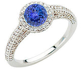 Pretty Tanzanite Genuine Gemstone Ring at BitCoin Gems