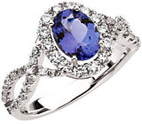 Magnificent Tanzanite Genuine Gemstone Ring at BitCoin Gems
