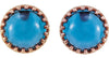 Hot Genuine Gemstone London Blue Topaz Earrings at BitCoin Gems
