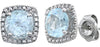 Exquisite Genuine Gemstone Blue Topaz Earrings at BitCoin Gems
