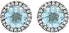 On Trend Genuine Gemstone Topaz Earrings at BitCoin Gems