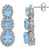 Alluring Genuine Gemstone Topaz Earrings at BitCoin Gems