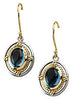 Amazing Genuine Gemstone London Blue Topaz Earrings at BitCoin Gems