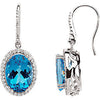 Stylish Genuine Gemstone Swiss Blue Topaz Earrings at BitCoin Gems