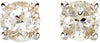 Glittering Genuine Gemstone White Topaz Earrings at BitCoin Gems