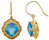 Classic Genuine Gemstone Swiss Blue Topaz Earrings at BitCoin Gems