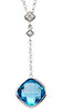 Gorgeous Genuine Gemstone Swiss Blue Topaz Pendant for SALE at BitCoin Gems