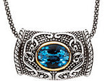 Remarkable Genuine Gemstone Swiss Blue Topaz Pendant for SALE at BitCoin Gems