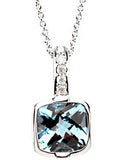 Lavish Genuine Gemstone Swiss Blue Topaz Pendant for SALE at BitCoin Gems