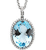 Bold Genuine Gemstone Blue Topaz Pendant for SALE at BitCoin Gems