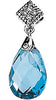 Pretty Genuine Gemstone Swiss Blue Topaz Pendant for SALE at BitCoin Gems