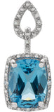 Exquisite Genuine Gemstone Topaz Pendant for SALE at BitCoin Gems