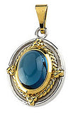 Royal Genuine Gemstone London Blue Topaz Pendant for SALE at BitCoin Gems