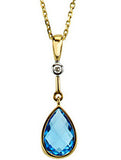 Sensational Genuine Gemstone Swiss Blue Topaz Pendant for SALE at BitCoin Gems
