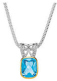 Lovely Genuine Gemstone Swiss Blue Topaz Pendant for SALE at BitCoin Gems