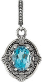 Excellent Genuine Gemstone Swiss Blue Topaz Pendant for SALE at BitCoin Gems