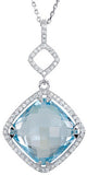 Exquisite Genuine Gemstone Blue Topaz Pendant for SALE at BitCoin Gems
