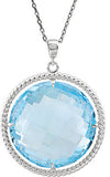 Color Pop Genuine Gemstone Topaz Pendant for SALE at BitCoin Gems