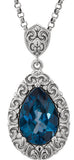 Stunning Genuine Gemstone Topaz Pendant for SALE at BitCoin Gems