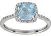 Trendy Blue Topaz Genuine Gemstone Ring at BitCoin Gems