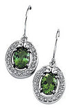 Ravishing Genuine Gemstone Green Tourmaline Earrings at BitCoin Gems