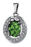 Majestic Genuine Gemstone Green Tourmaline Pendant for SALE at BitCoin Gems
