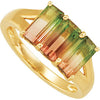 Attractive Tourmaline Genuine Gemstone Ring at BitCoin Gems
