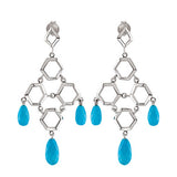 Glamorous Genuine Gemstone Turquoise Earrings at BitCoin Gems