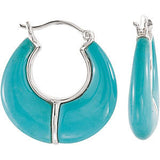Unique Genuine Gemstone Turquoise Earrings at BitCoin Gems