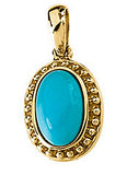 Lovely Genuine Gemstone Turquoise Pendant for SALE at BitCoin Gems