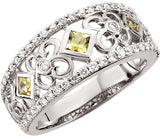 Lovely Yellow Sapphire Genuine Gemstone Ring at BitCoin Gems