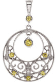 Finely Crafted Genuine Gemstone Yellow Sapphire Pendant for SALE at BitCoin Gems