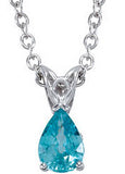 Stunning Genuine Gemstone Blue Zircon Pendant for SALE at BitCoin Gems