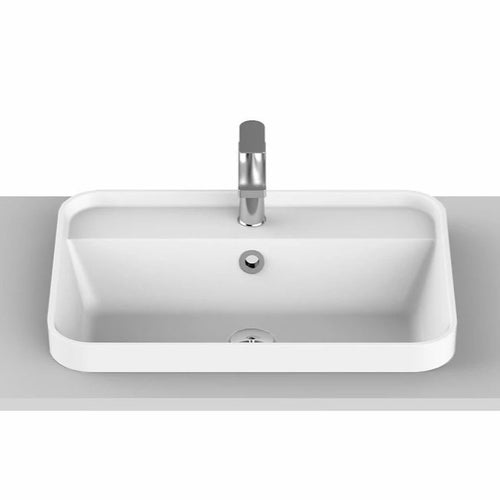 ADP Miya 550 Solid Surface Semi-Inset Basin - Yeomans Bagno Ceramiche