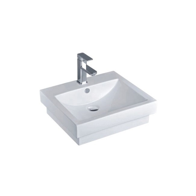 Yeomans BC Holly White Gloss Semi-Inset Basin - Yeomans Bagno Ceramiche
