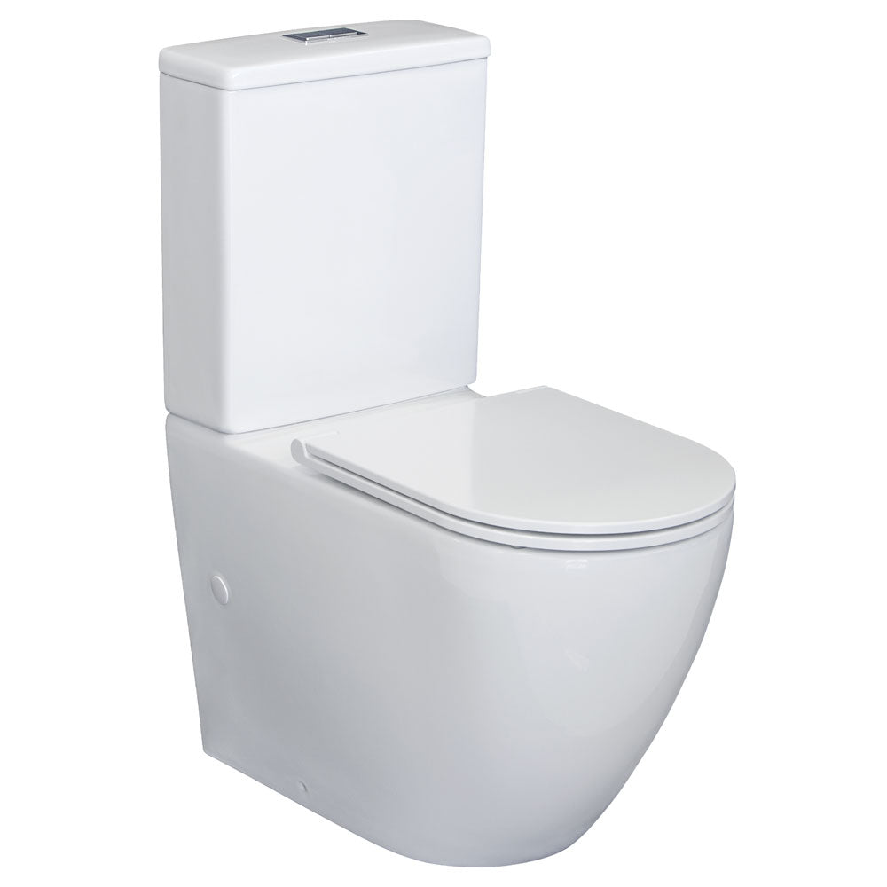 Fienza Alix Slim Seat Back-To-Wall Toilet Suite - Yeomans Bagno Ceramiche