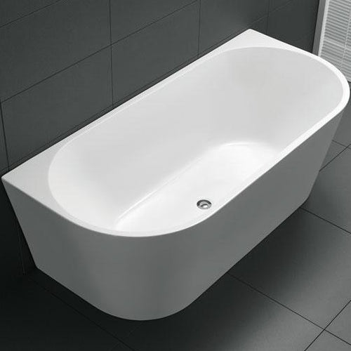 Yeomans BC Atlanta Back to Wall Acrylic Bath - Yeomans Bagno Ceramiche