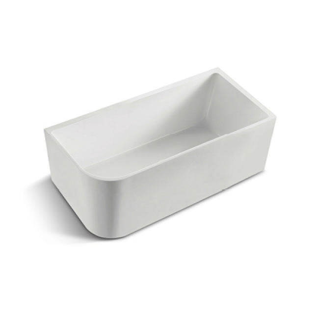 BNK Corner Acrylic Bath Matte White Right Hand Side -  Yeomans Bagno Ceramiche