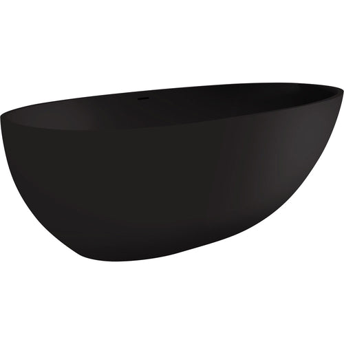 Bahama 1700 Cast Stone Solid Surface Bath Matte Black - Yeomans Bagno Ceramiche
