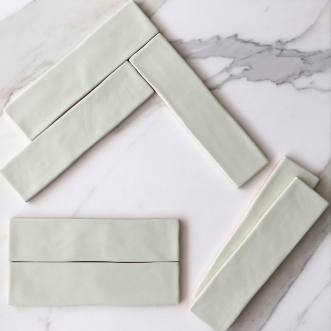 Chalk Pale Green Subway Tile - Yeomans Bagno Ceramiche