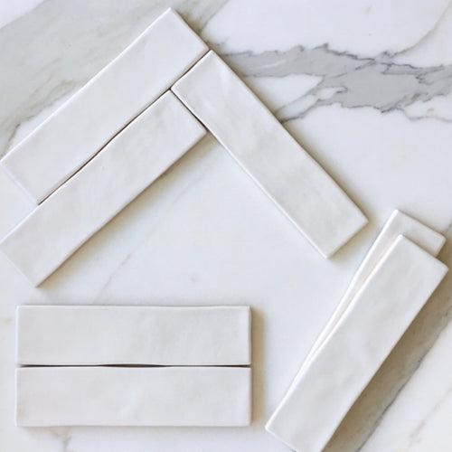Chalk White Subway Tile - Yeomans Bagno Ceramiche