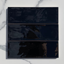 Load image into Gallery viewer, Valonia Black Gloss Subway Tile - Yeomans Bagno Ceramiche